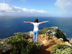 Südafrika-Cape-Point-Ausblick-auf-den-Ozean-Südafrika-Garden-Route