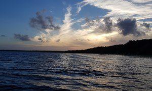 Sonnenuntergang Kosi Bay Südafrika