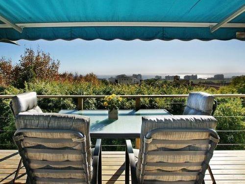 Ausblick vom Balkon der Unterkunft in Kapstadt