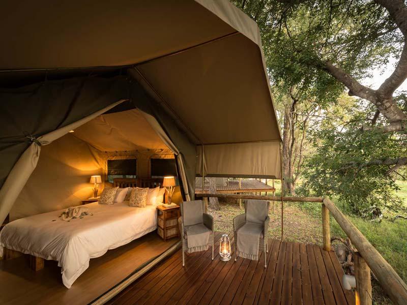 Zeltunterkunft beim Kruger Nationalpark