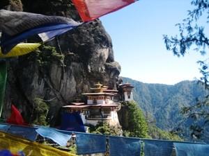 Tigernest Kloster in Paro bei Bhutan Indien Reise