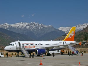 Flughafen Paro Bhutan Highlights Rundreise