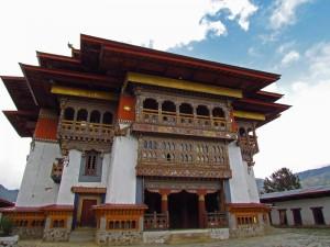 Gangtey Dzong im Phobjika Tal