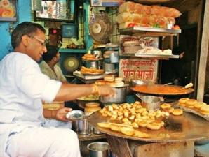Snackverkäufer in Delhi