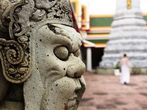 Zum Tempelbesuch in Bangkok