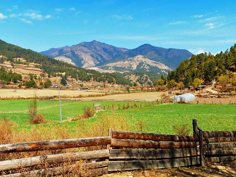Bhutan Bumthang Owl Trekking Landschaft