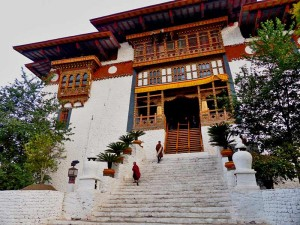 Eingang der Klosterfestung in Punakha