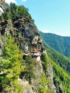 Das Tigernest Kloster Taktsang am Felshang bei Paro