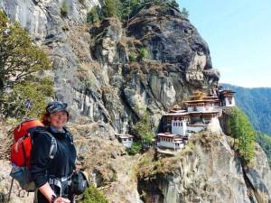 Wanderer vor dem Tigernest bei Paro