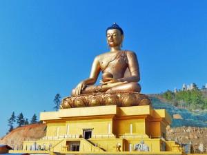 Goldene Buddha Statue in Thimphu