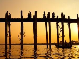 U-Bein Brücke bei Mandalay