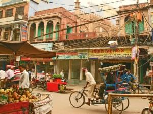 Fahrrad-Rikscha in Delhi bei Bhutan Sikkim Reisen