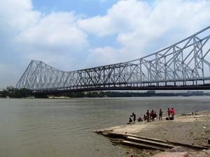 Die Howrah Brücke von Kolkata.
