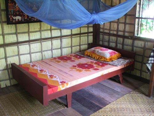 Einfaches Zimmer während des Homestays