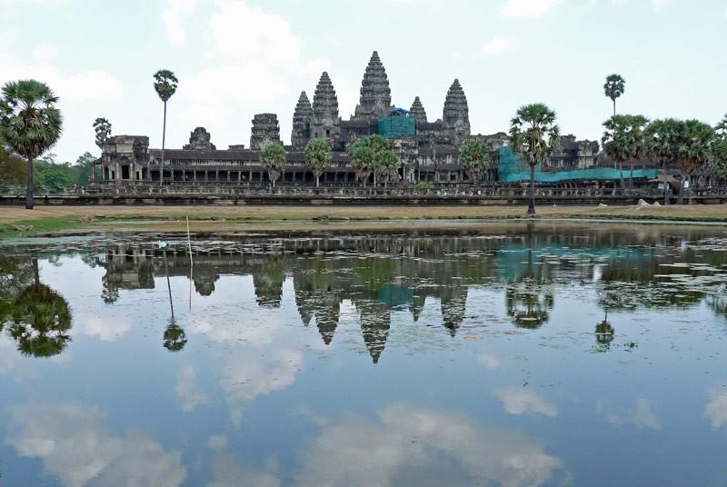 Angkor Wat mit Spiegelbild