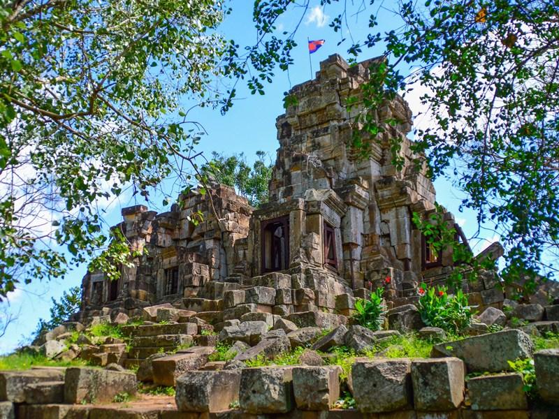 Auf dem Weg zum Mekong Delta - Beeindruckende Tempel bei Battambang