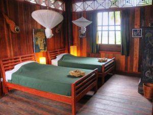 Schön eingerichtetes Zimmer in Kambodscha