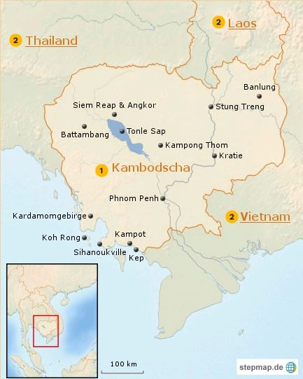 Kambodscha Karte.Kambodscha Karte Ubersicht Und Informationen Erlebe