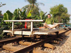 Kambodscha in 2 Wochen - Bambusbahn von Battambang