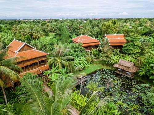 Grüne Oase im Herzen von Battambang