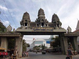Grenzübergang zwischen Thailand und Kambodscha