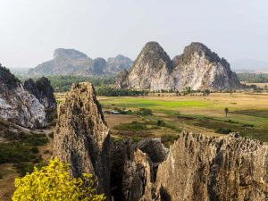 Ausblick über die Landschaft um Kampot