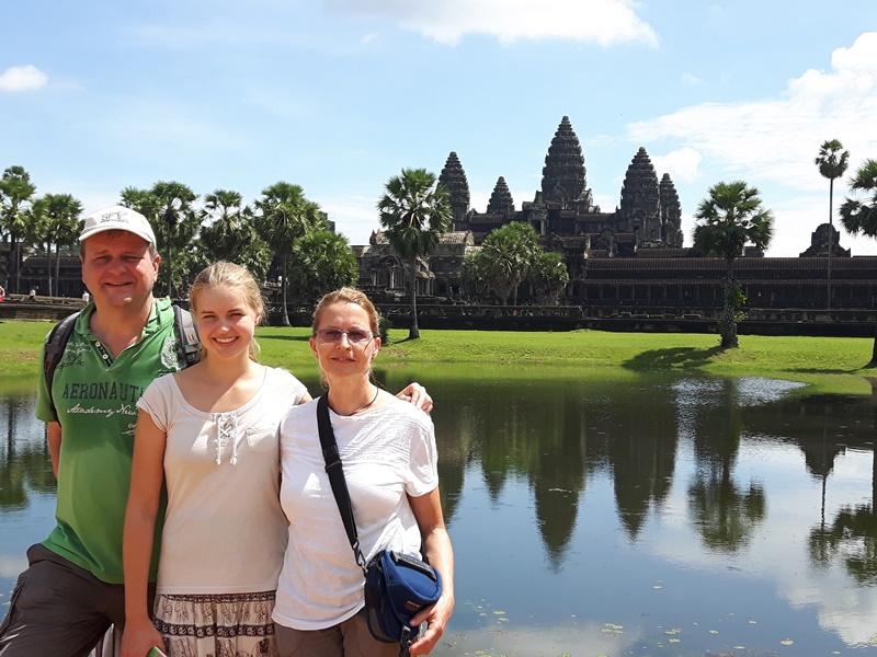 Kambodscha Urlaub Angkor Wat See