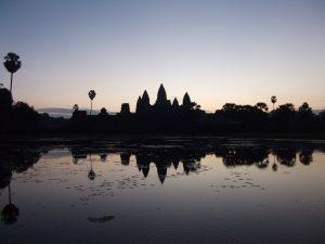 Angkor Wat bei Sonnenuntergang