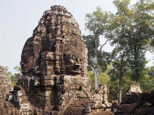 Gesichter des Bayon Tempels in Kambodscha