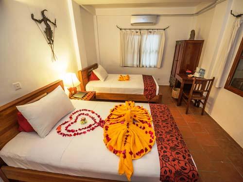 Freundlich eingerichtetes Zimmer in Siem Reap