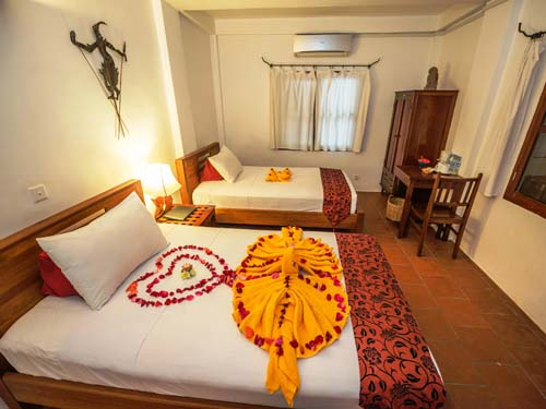 Hotelzimmer in Siem Reap bei Kambodscha Rundreise