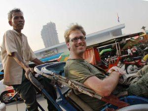 Cyclo Fahrt in Phnom Penh
