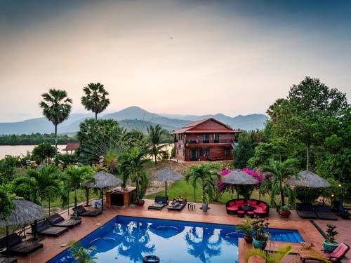 Anlage des Hotels in Kampot
