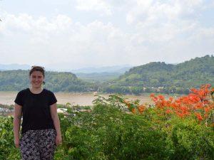 Blick vom Phou Si Berg über Luang Prabang und den Mekong