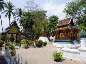 Tempelanlage in Luang Pranbang bei Reise von Laos nach Kambodscha