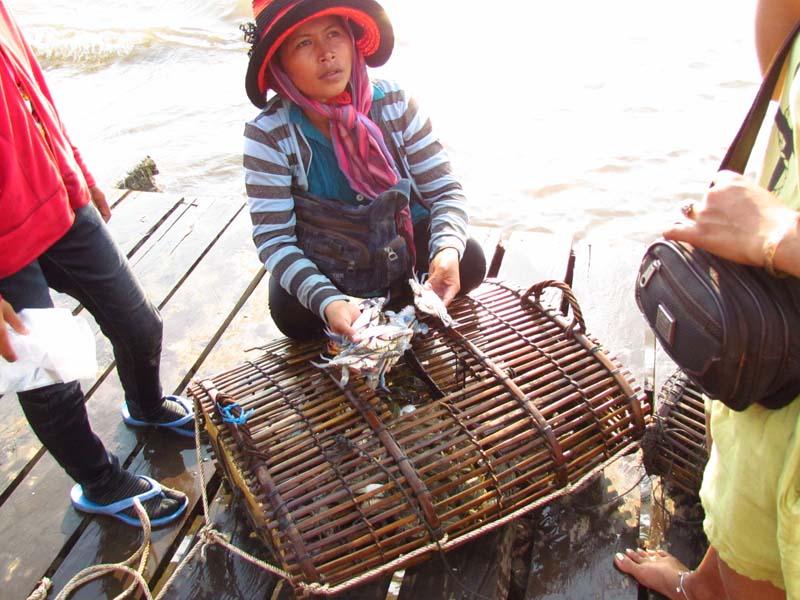 Kep - Krabbenmarkt im Süden von Kambodscha