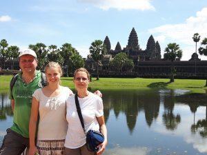 Kambodscha Reisen Siem Reap Angkor Wat See