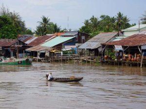 Pfahlhäuser im Mekong Delta