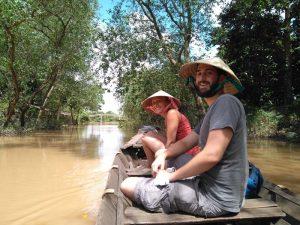 Ruderfahrt durch das Mekong Delta