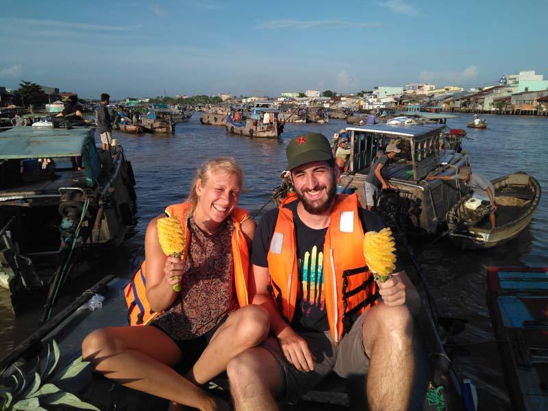 Besuch der schwimmenden Märkte in Vietnam