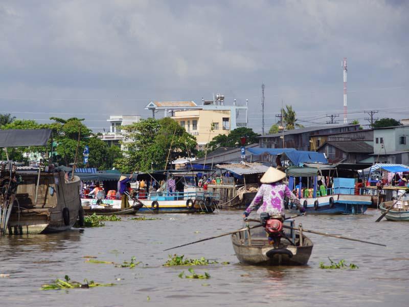 Wasserstraße im Mekong Delta