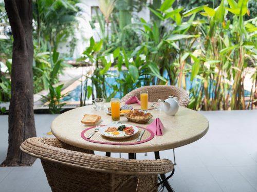Restaurant im Freien in Phnom Penh