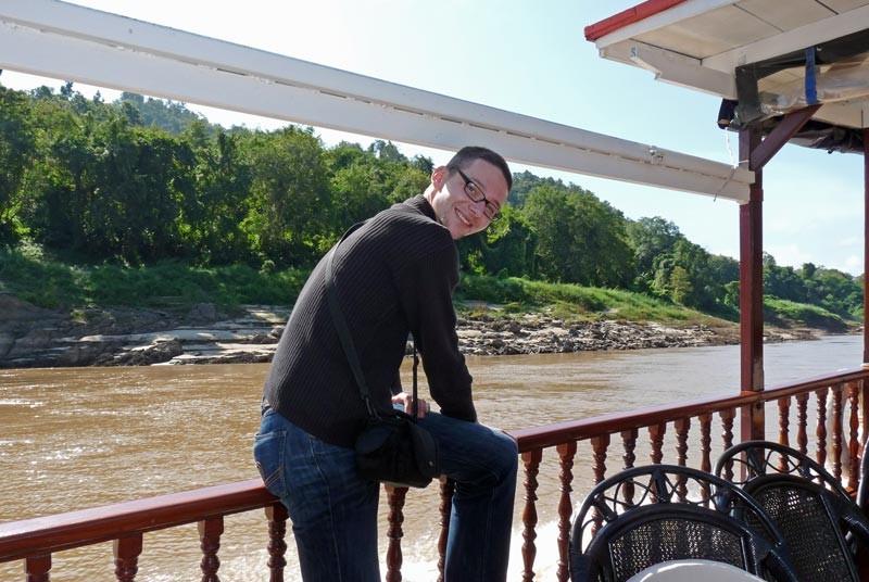 Tourist während Mekong Cruise in Laos