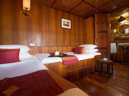 Kabine der Wat Phou Cruise