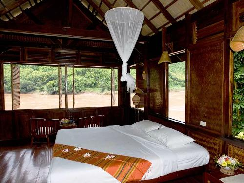 Zimmer in der Lodge am Mekong
