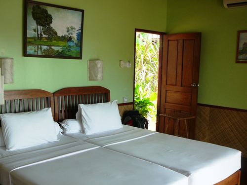 Zimmer im Mekong Hotel auf Don Khone