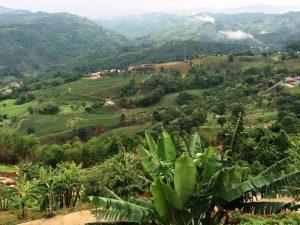 Bergige Landschaft in Nordthailand