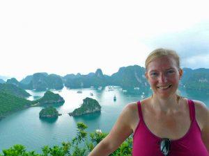 Aussicht auf die Ha Long Bucht