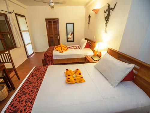 Gemütliches Zimmer im Hotel in Siem Reap