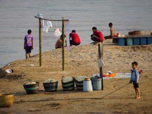 Mekong an der laotischen Grenze in Chiang Khong
